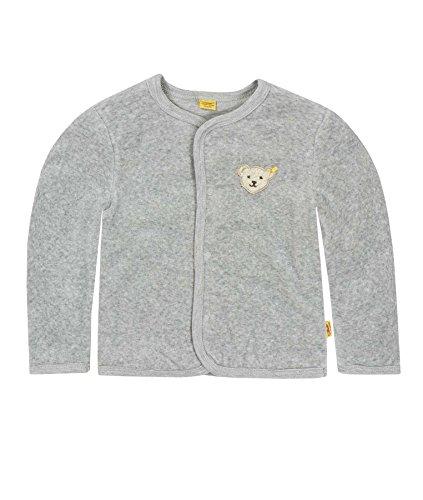 Steiff Unisex - Baby Jacke 1/1 Arm, Einfarbig, Gr. 62, Grau (Steiff Softgrey Melange Gray 8200)