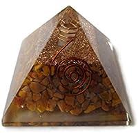 Gelb Jade Edelstein Pyramide, Reiki Healing Chakra Pyramide, spirituelle Energetische Pyramide mit Bergkristall-Point... preisvergleich bei billige-tabletten.eu
