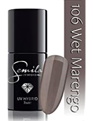 Semilac UV Vernis à ongles hybride, N ° 106, 7ml, wet marengo