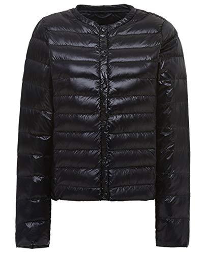cxzas852 Womens Daunenjacke Damen Größe kragenlose Langarm Slim Jacke Flut Herbst Jacke