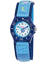 Peppa Pig Boy's Quartz Watch with Blue Dial Analogue Display and Blue PU Strap PP006
