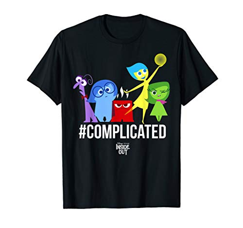 Inside Out Damen T-shirt (Disney Inside Out Complicated Emotions Graphic T-Shirt)