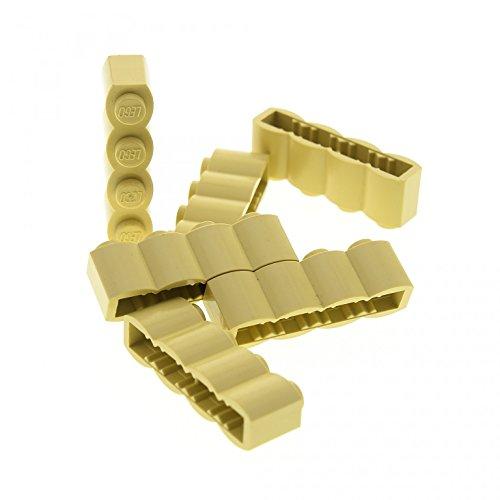 Bausteine gebraucht 6 x Lego System Stein beige tan Palisaden 1 x 4 Noppen Palisade Baum Stamm für Set Harry Potter 8639 10213 8487 4842 5988 30137 (Harry Potter Stamm)