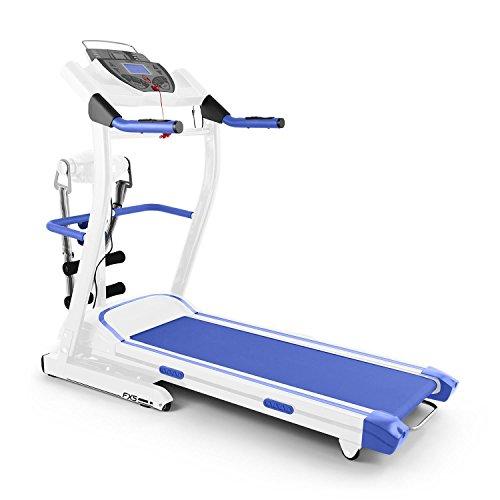 Klarfit pacemaker fx5 • tapis roulant • tappeto elettrico • velocità regolabile • 1,5 cavalli • fascia massaggiante • 12 programmi • altoparlante + aux • max. 120 kg • richiudibile • blu/bianco