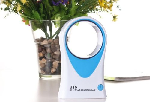 Mammoth XT USB Tischventilator ohne Ventilatorrad - Rotorloser Ventilator in Blau
