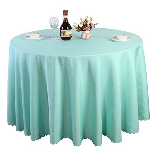 Heheja Pure Farbe Tischtücher Eckig Rund Tischdecke Ornamente Tiffany Blau 220cm
