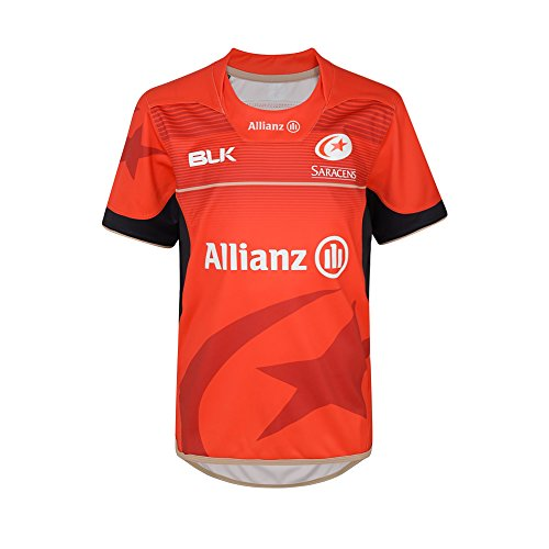 saracens-2016-17-alternate-replica-s-s-maglietta-da-rugby-red-14-anni