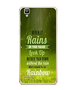 PrintVisa Designer Back Case Cover for Oppo F1 :: A35 (Parade Down Quote)