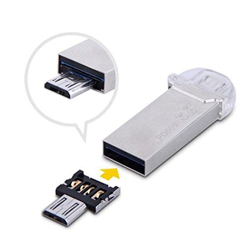 2 stücke Micro USB Stecker auf USB OTG Adapter Konverter Für Android Tablet Telefon Von Dragon868 (Silber)