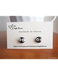 Soot earrings, Ghibli Miyazaki cute kawaii cernit fimo handmade polymer clay