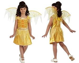 Atosa- Disfraz Hada, Color amarillo, 10 a 12 años (10739)
