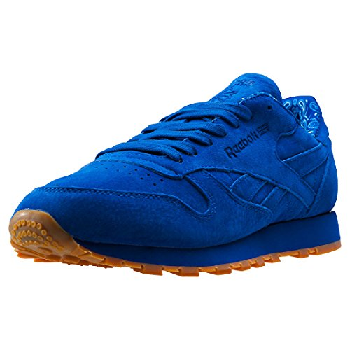 Reebok Cl Leather Tdc, Sneakers Homme Bleu (Collegiate Royal/white)