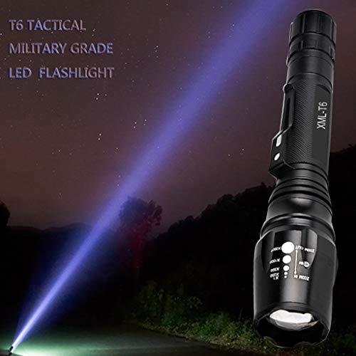 10w Ersatzlampe (AmyGline LED Taschenlampe Taktische Taschenlampe X7T6 L2 50000LM 5-Mode Einziehbare Einstellbarer Fokus Taschenlampe Blendung 10W)