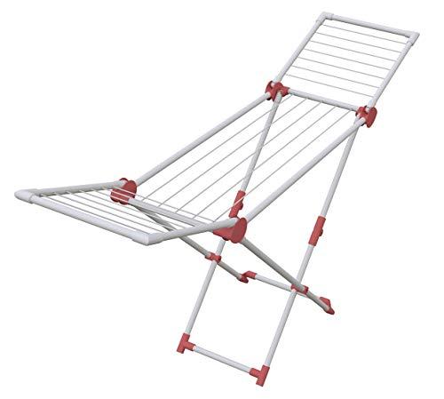 Artweger Wäschetrockner, Stahl, Aluminium und Kunststoff, Cranberry, 169,5 x 41,9 x 95,5 cm
