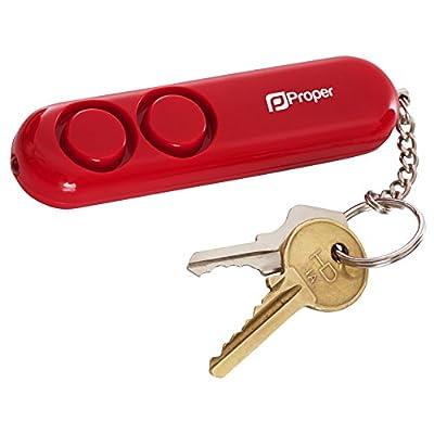 Sicherheit eine angemessene P-SAPPTR-1 110 db persönlichen Alarm mit Panik LED Taschenlampe Zugschnur Aktivierung Sirene - Rot von Proper bei Outdoor Shop