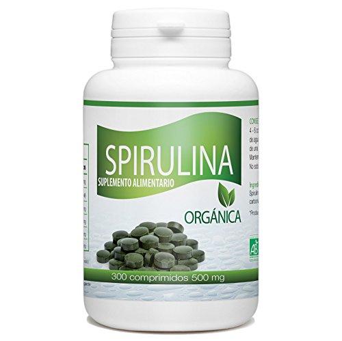 Spirulina Organica - 300 tabletas de 500 mg