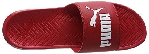 Puma Piscina Popcat 5 Scarpe 13 bianco E Rossa Per Mixed acerola Puma Spiaggia Da Avevano Adulti 48 rrBqw