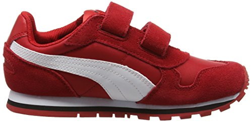 Puma Unisex-Kinder St Runner Nl V Ps Low-Top Rot (barbados cherry-puma white 15)