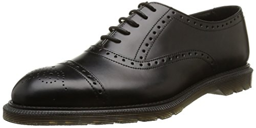 Dr. Martens MORRIS Polished Smooth Herren Brogue Schnürhalbschuhe Schwarz (Black)