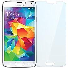 NEVEQ Cristal Templado Protector de Pantalla Para Samsung Galaxy S5 (Transparent) Vidrio Templado, el Samsung Galaxy S5 Transparent (5.1 in) Pulgadas piel Protectora de la Cubierta.