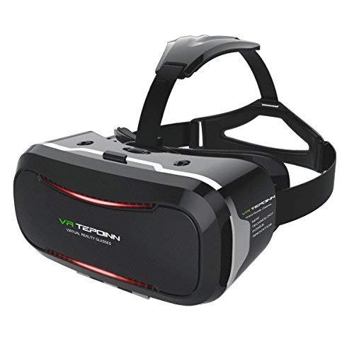 Tepoinn Occhiali Realtà Virtuale,Occhiali Virtuali 3D per spettatori di Realtà virtuale Occhiali per 4,0~5.7 Pollici Smartphones iPhone (38)