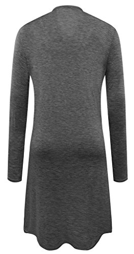 sexylady - Gilet - Uni - Manches Longues - Femme Deep Grey
