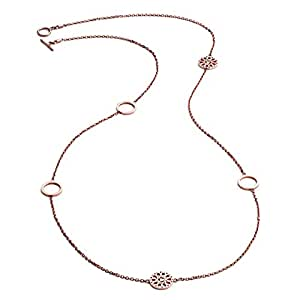 Or Rose Tête de Jaguar en filigrane et cinq Charm circulaire