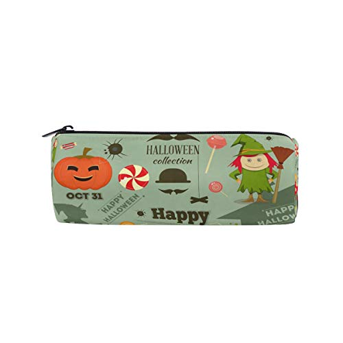 n für Halloween, Karten, Kürbisschläger, Federmäppchen, mit Reißverschluss ()