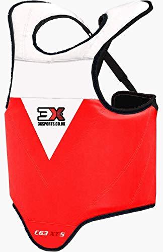 Professional Choice Boxen Kinder Körperschutz Kampfsport Körperschutzweste Kampfweste Taekwondo MMA Krav MAGA trainieren Körperpanzer Bauchschutz Jungs Mädchen (CE-Zertifiziert)