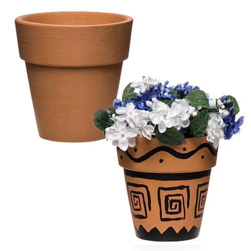 Vasi in terracotta (confezione da 4)