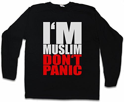 I´M MUSLIM DON´T PANIC I T-SHIRT DE MANGA LARGA LONG SLEEVE SHIRT – Turquía Islam Turchia árabe Muslima musulmán muslima musulmanes Religion Arabic Arabian Istanbul Turkey Constantinople Türkiye