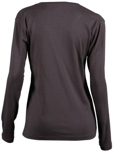 James & Nicholson Damen T-Shirt Langarmshirt Shirt Charcoal
