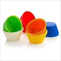 Macxy - [Farbe Randam 12pcs / Lot Silikon-Kuchen-Zwischenlagen-Form-Muffin-Kästen Muti Runde Form Cup-Kuchen-Werkzeuge... preisvergleich bei billige-tabletten.eu