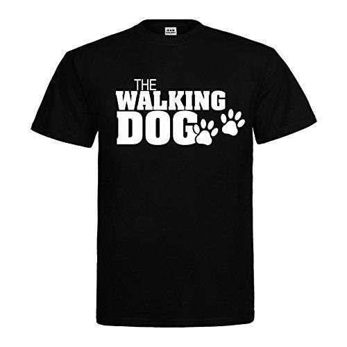 MDMA T-Shirt The Walking Dog Paws Pfoten Textil black / Motiv weiss Gr. L -