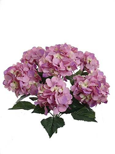 Hortensie Dekorationen Hochzeit (ANKKO 7-Köpfe Bounquet künstliche Hortensie Blume Home Hochzeit Dekoration Seide Fake getrocknet Hortensie, Rosa)