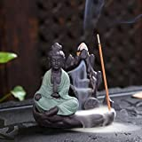 JOYOTER Quemador de Incienso de aromaterapia Budista Incensario de Buda pequeño Flujo de Retorno de...
