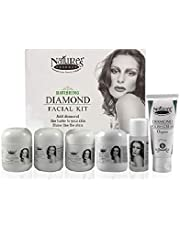 Nature's Essence Mini Combo Diamond Facial kit | Skin Cream 8g | Scrub 8g | Glow Pack 10g | Polish Cream 8g