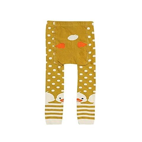 Omiky® Mode Kinder Baby Jungen Mädchen Leggings Wärmer Baumwolle PP Hosen Hosen Kleider (M/3Jahr, Gelb)