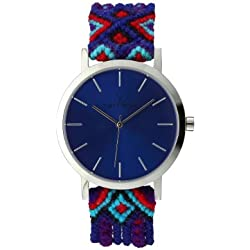 Toywatch Maya Women's Quartz Watch with Blue Dial Analogue Display and Purple Strap MYW10SL