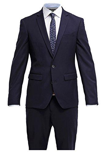 Pier One Anzug Herren Slim Fit Blau Navy, Größe 48