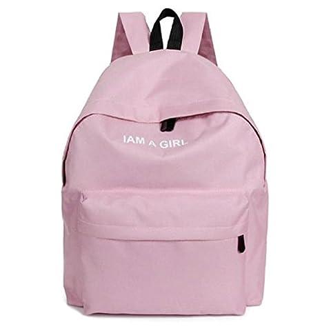 Vovotrade® Fashion Girls Canvas Rucksack Backpack School Shoulder Bag (Pink)