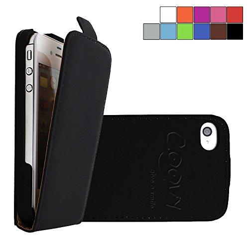 COOVY Funda para Apple iPhone 4 / 4s Cubierta Delgado, con Tapa, lámina...