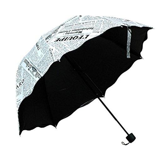 SUCES Damen Faltbarer Regenschirm Sonnenschirm Manuell UV-Schutz Schirm für Outdoor Camping Mädchen Regenschirm Anti-UV Regenschirm Ultralight Taschenschirme für Frauen (A)