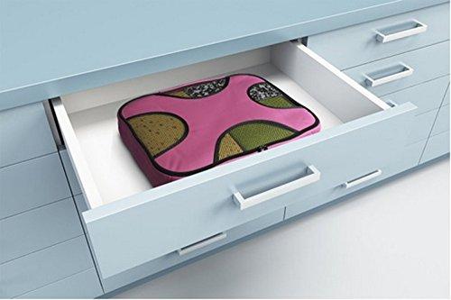 Verpackungswürfel   Hie 5er-Set Kofferorganizer / Kleidertasche / Schuhbeutel / Wäschebeutel für Reisegepäck Koffer - Rosa