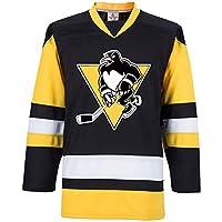 Camiseta pingüino de Hockey sobre Hielo Camiseta de Hockey sobre Hielo de Manga Larga Camiseta Deportiva Equipo de competición Uniforme Sudaderas para Hombres y Mujeres para niños XXXS-XXXL