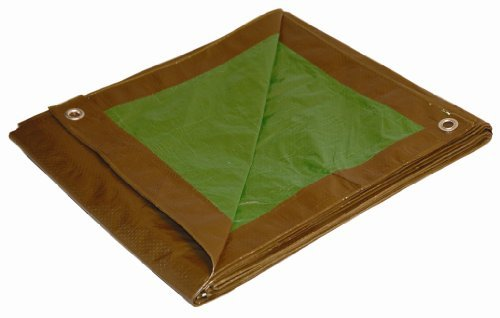 10' x 12' Brown/Green Reversible Cut Size 5-mil Poly Tarp item #910124 by DRY TOP