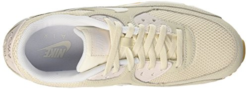 Nike Air Max 90 Essential, Sneakers Basses Homme Blanc (Phantom/Phantom-Blanc-Gum Yellow)
