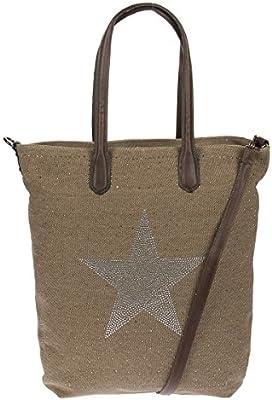 Koss Berg Mujer brillantes estrella Shopper Bolsa de hombro Bolso