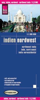 Inde du Nord-Ouest 1:1,300,000 Carte Voyage régional, imperméable à l'eau, compatible avec le GPS