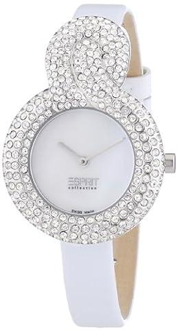 Esprit Collection - EL101182S02 - Danaé - Montre Femme - Quartz Analogique - Cadran Nacre - Bracelet Cuir Blanc